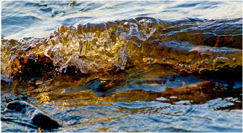water photograph, small wave